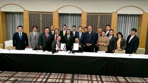 Cuba y Japón firman importante Acuerdo Interparlamentario