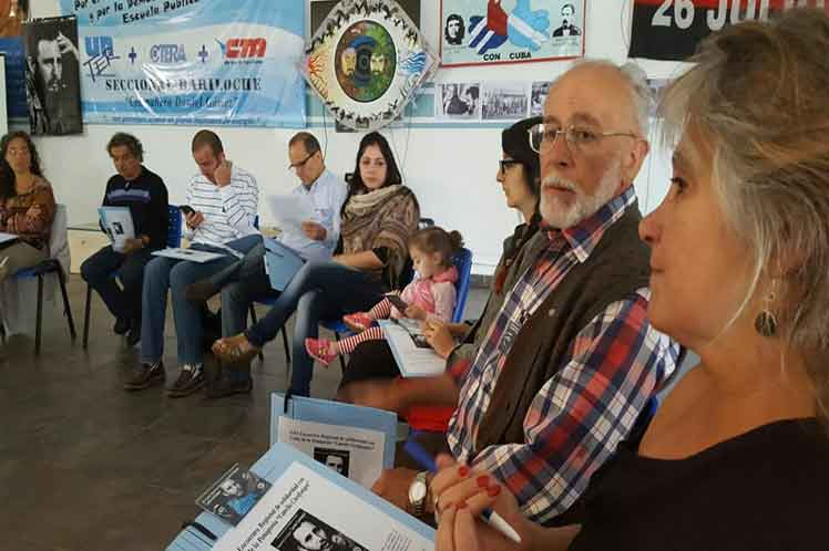 Bariloche Hosts Regional Meeting of Solidarity with Cuba in Argentina