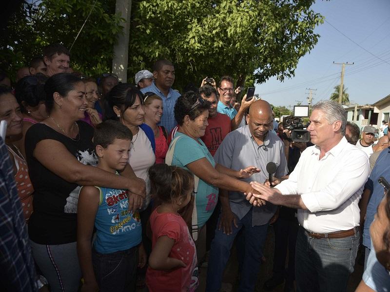 Presidente cubano recorrió Cayo Ramona, en la Ciénaga de Zapata