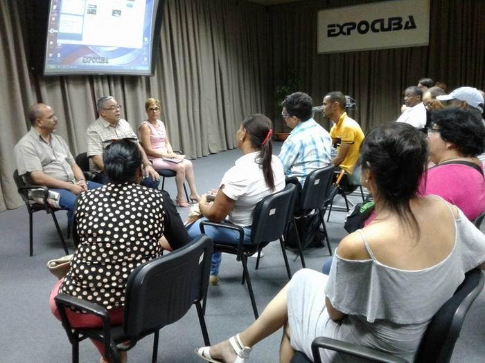 Delegados habaneros al Congreso de la UPEC intercambian con dirigentes de la capital