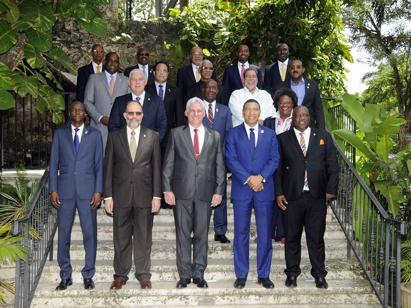 Diaz-Canel holds meetings with Jamaica and Haiti heads of state