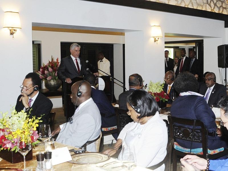 Reunión de Caricom: Miguel Díaz-Canel llega a Jamaica