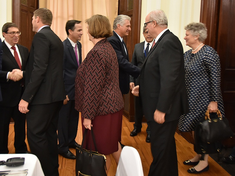 Cuban President Diaz-Canel meets with US agricultural leaders