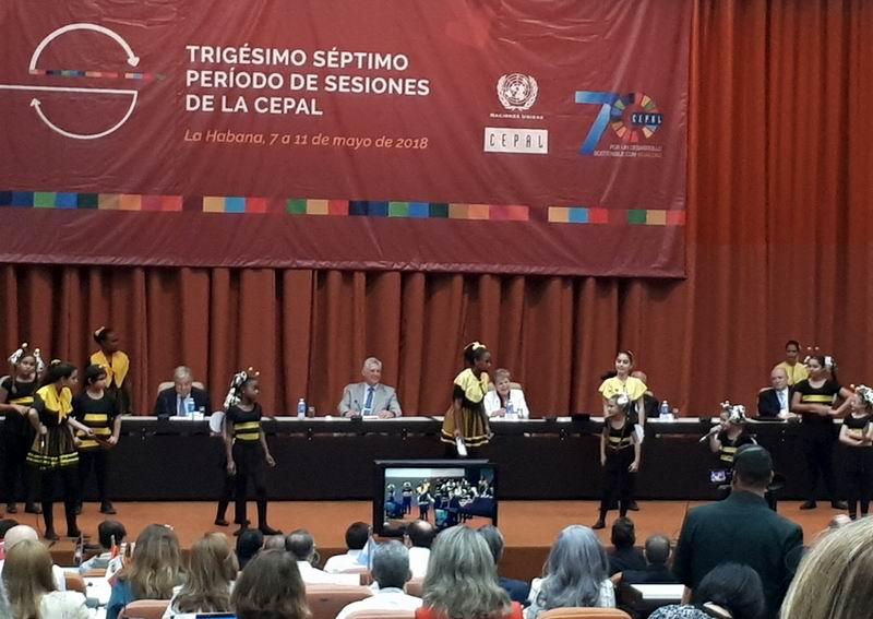 Preside Miguel Díaz-Canel apertura del XXXVII período de sesiones de la CEPAL