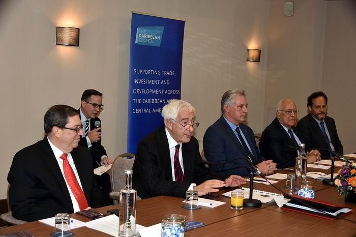 Díaz-Canel meets with British businessmen