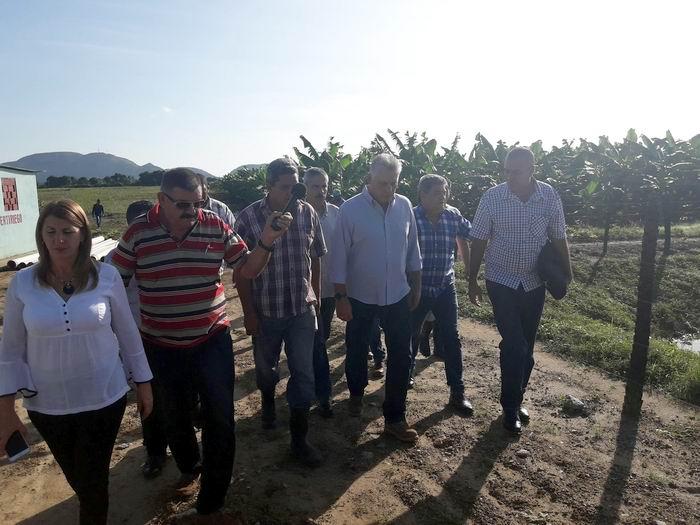 Visita Díaz-Canel el municipio especial de la Isla de la Juventud