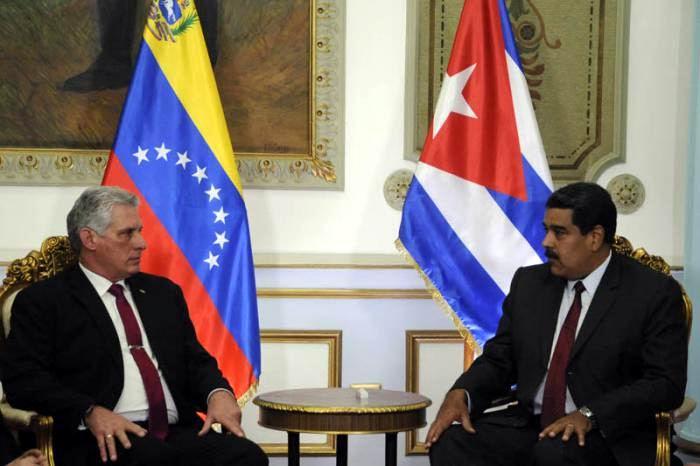 Díaz-Canel se convierte en el primer presidente que visita a Maduro