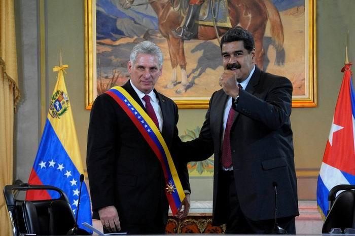 Cuban President Diaz Canel awarded Libertadores Order in Venezuela