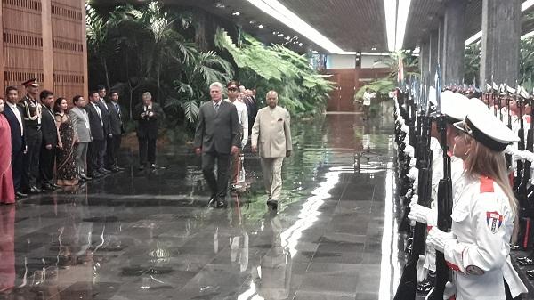 Recibe Díaz-Canel a Presidente de la India