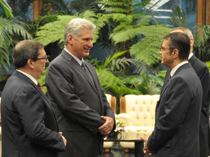 Recibió Díaz-Canel las cartas credenciales de embajadores
