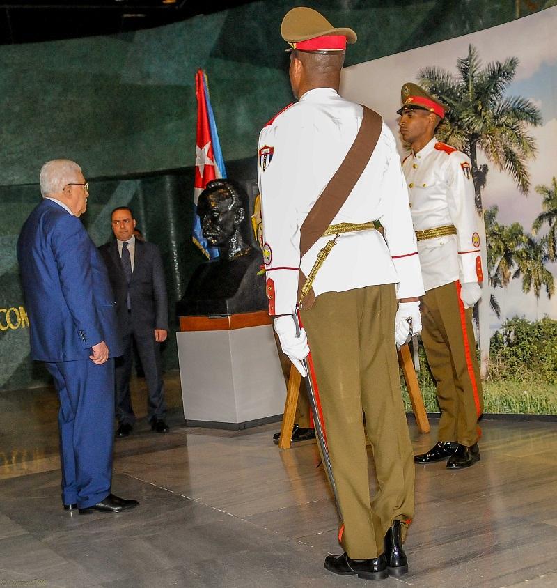 Palestinian President Pays Tribute to Jose Marti