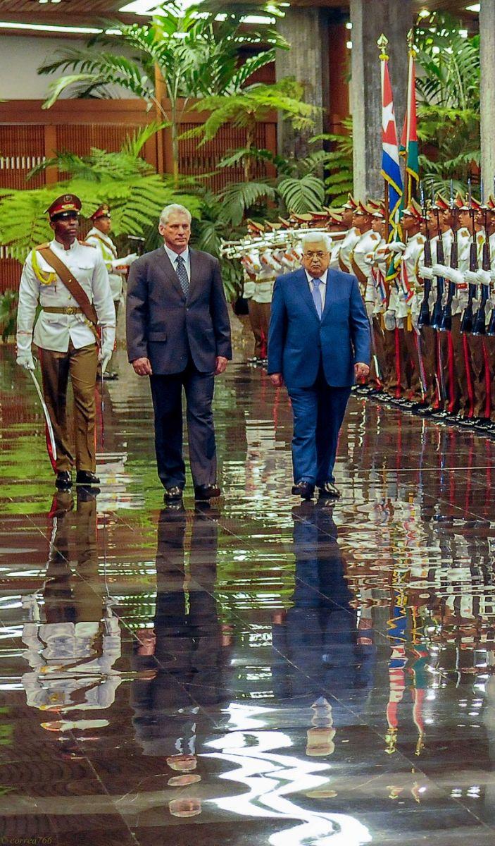 Recibe Díaz-Canel a presidente del Estado de Palestina