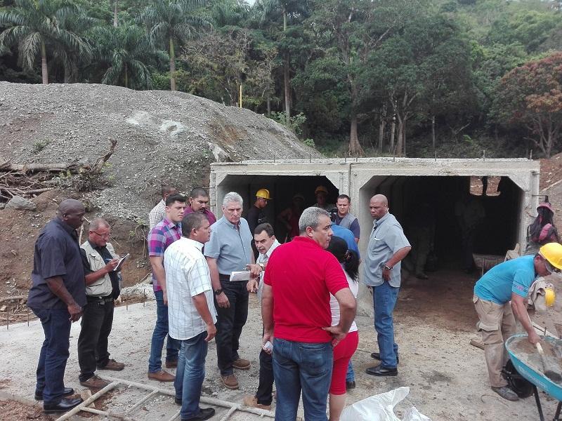 Presidente cubano visita provincia de Villa Clara
