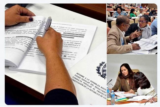 Diputados cubanos continúan debates del nuevo texto constitucional