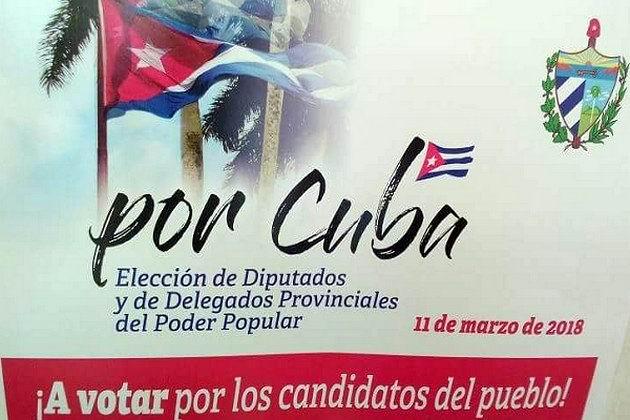 Por Cuba elecciones generales 11 de marzo de 2018