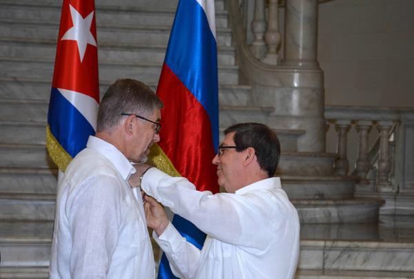 Recibe Medalla de la Amistad embajador de Rusia en Cuba (+Fotos)