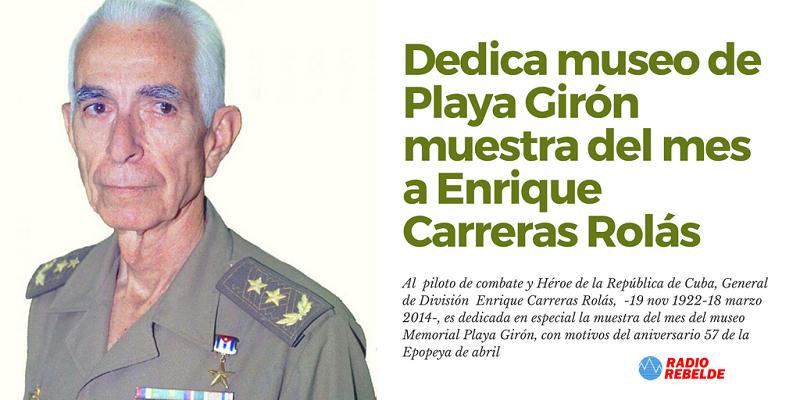 Dedica museo de Playa Girón muestra del mes a Enrique Carreras Rolás