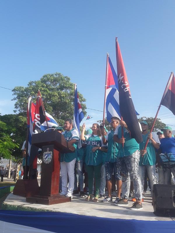 Celebraron pineros Día de la Rebeldía Nacional