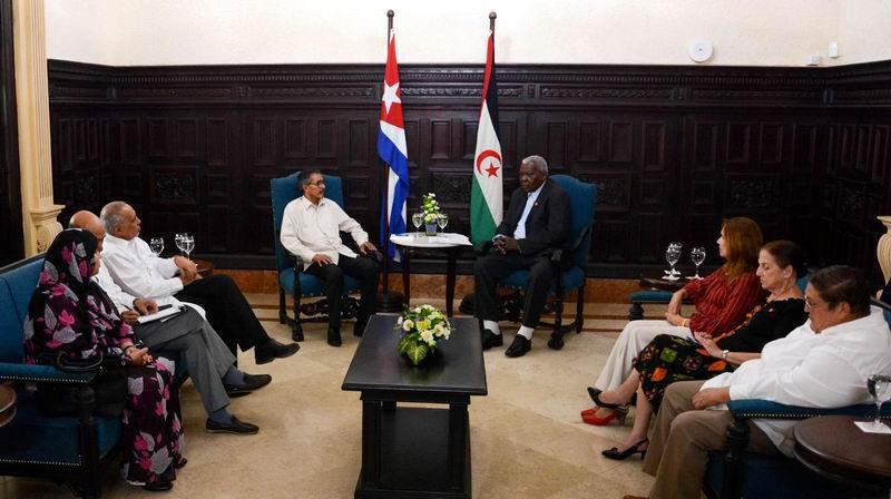 Esteban Lazo Receives the President of the National Saharawi Council