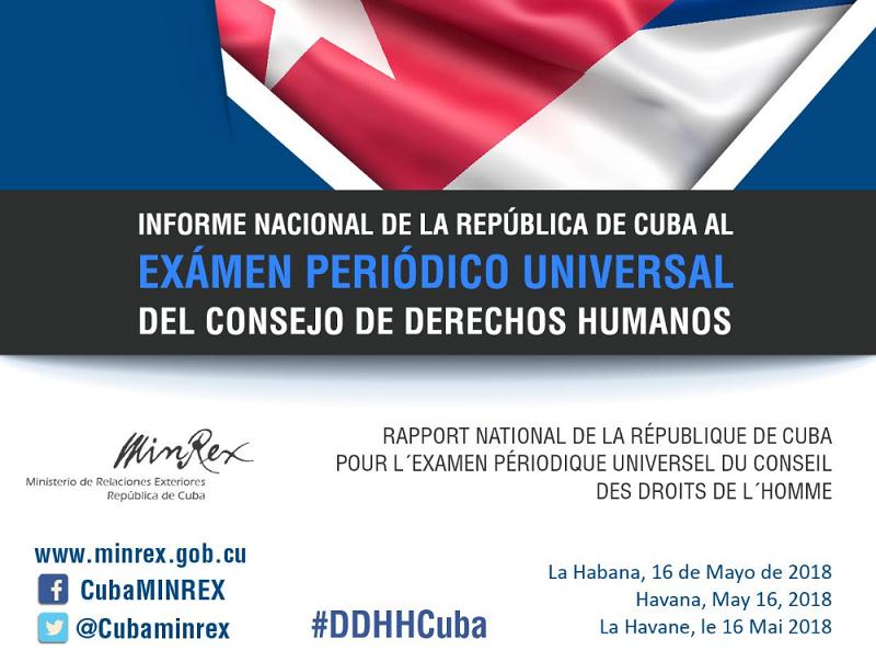 Cuba en el Examen Periódico Universal, por tercera vez