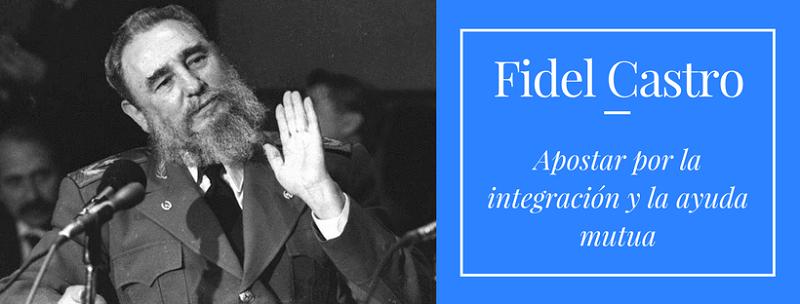 Fidel Castro: Apostar por la integración y la ayuda mutua (+Audio)