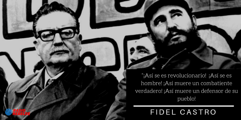 Salvador Allende cumplió su palabra en forma dramática e impresionante