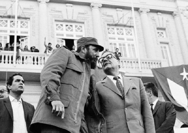 Fidel Castro y el presidente chileno Salvador Allende (+Audio)