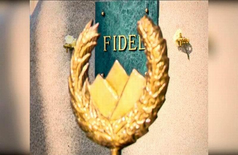 Homenaje del pueblo de Santiago de Cuba a Fidel.
