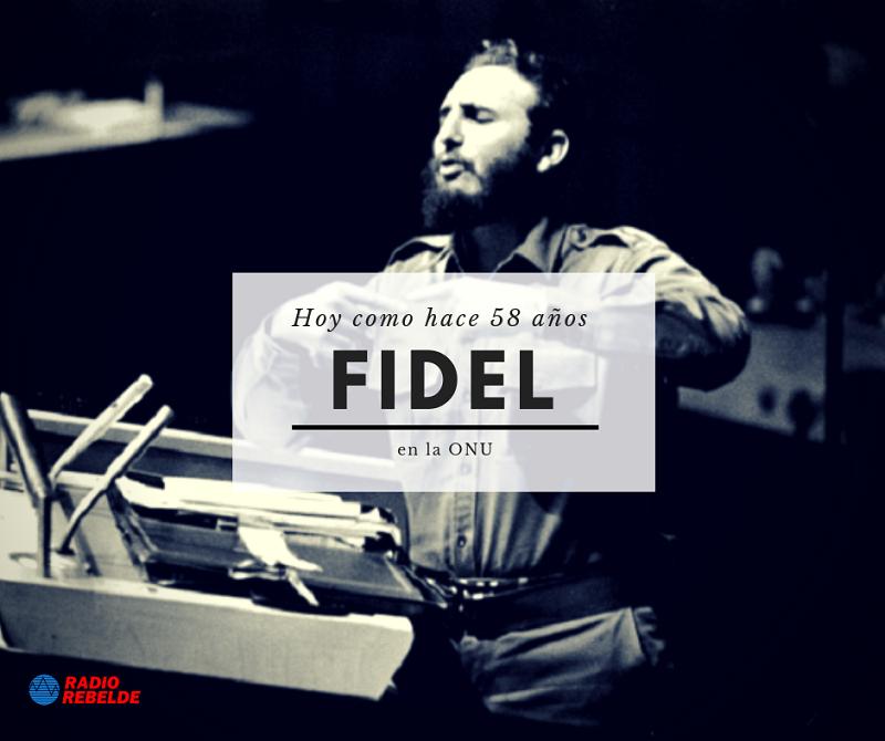 Fidel está en la ONU