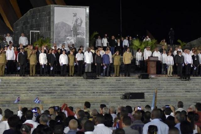 Evo Morales recuerda el aniversario 61 del desembarco del yate Granma