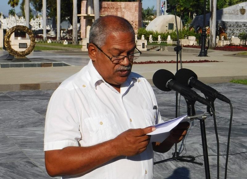 Ariel Macledo, Vicepresidente de la Asociación de Combatientes de la Revolución en Santiago de Cuba