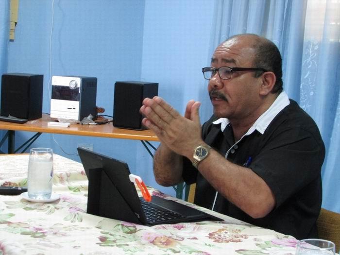 José Ángel Llamos Camejo, periodista autor del libro en edición Un Guerrillero Antillano En El Paralelo 17. Foto: Dayana Romero