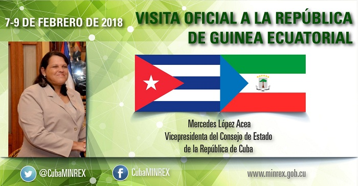 Realiza Mercedes López Acea visita oficial a Guinea Ecuatorial