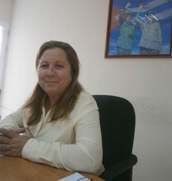 Secretaria General de la  Central de Trabajadores de Cuba en Cienfuegos, Minerva García Olivera. Foto: Mireya Ojeda