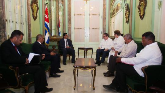 Recibió Canciller cubano al Viceministro de Asuntos Políticos de Yemen