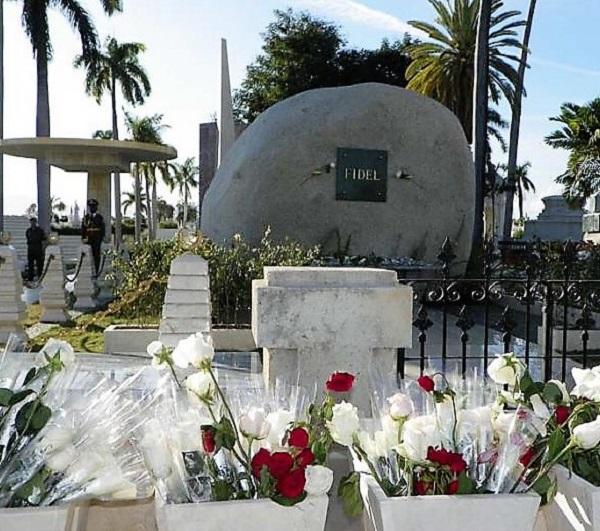 Monolito que guarda los restos de Fidel, Santiago de Cuba