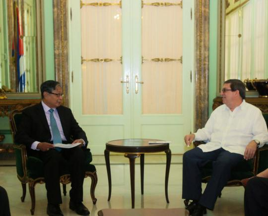 Cuban Foreign Minister receives Myanmar high diplomatic