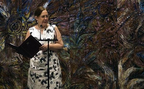 Milagros Carina Soto fue la encargada de pronunciar el compromiso y juramento a la República de Cuba. Foto: Irene Pérez
