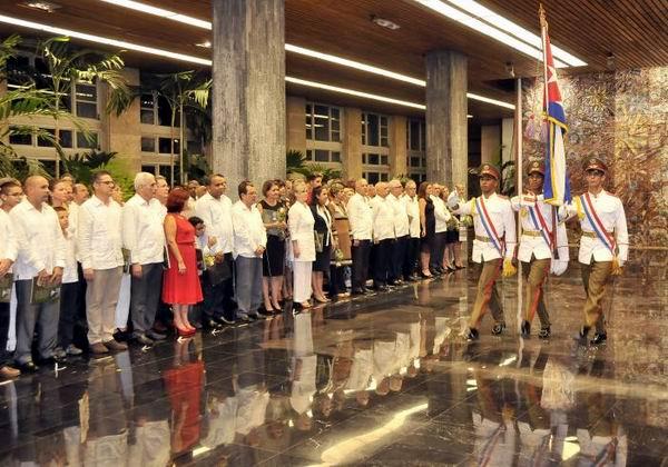 En el Palacio de la Revolución, se realizó la ceremonia de juramento de 22 nuevos Jefes de Misión designados en el exterior. Foto: Ismael Batista