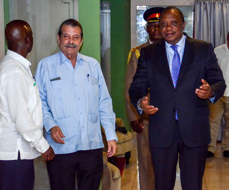 Kenyan President is in Cuba on Official Visit