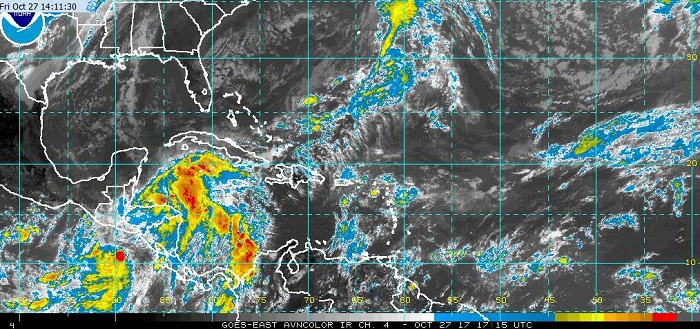 Alertan sobre posible depresión tropical en el Caribe