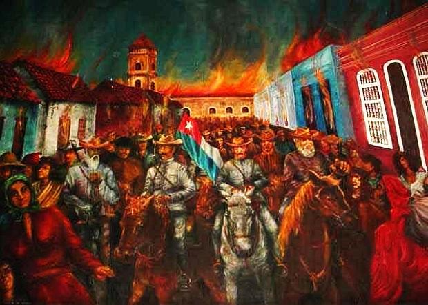 Las llamas que simbolizaron la firmeza de los cubanos en Bayamo