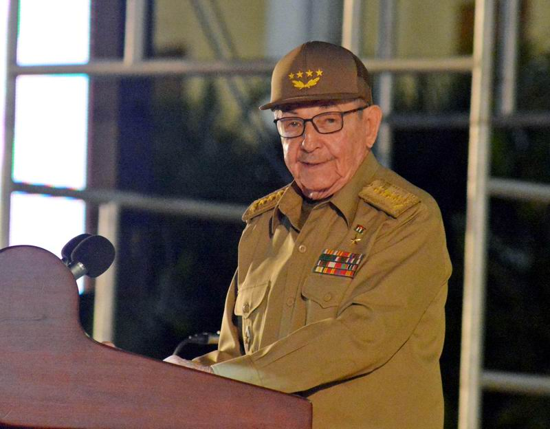 El General de Ejército Raúl Castro, Primer Secretario del Partido Comunista de Cuba (PCC), tuvo a su cargo las palabras de clausura del acto nacional por el aniversario 65 del asalto a los cuarteles Moncada y Carlos Manuel de Céspedes, en la Ciudad Escolar 26 de Julio, en Santiago de Cuba, el 26 de julio de 2018. ACN FOTO/Juan PABLO CARRERAS/sdl