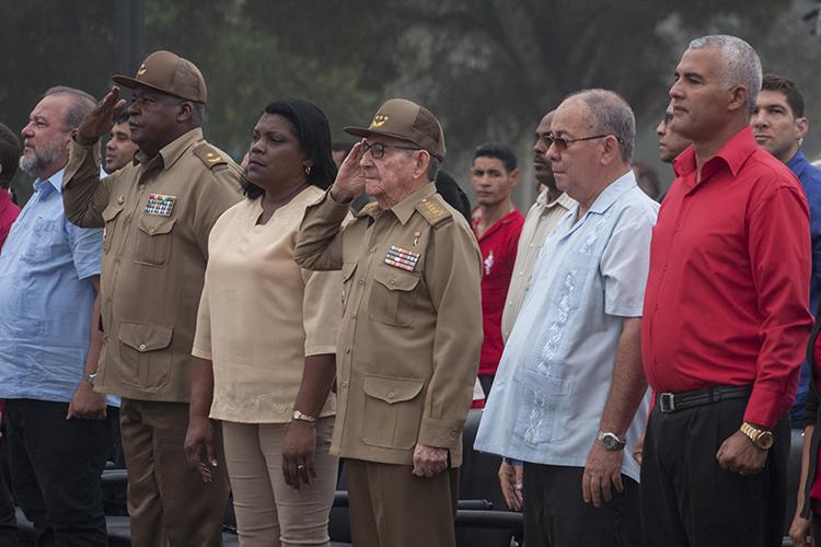 Presidió Raúl acto provincial por el 26 de julio en Segundo Frente