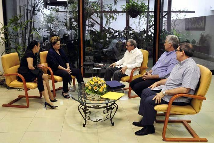 Sostuvo Raúl Castro y Díaz-Canel encuentro con Dilma Rousseff