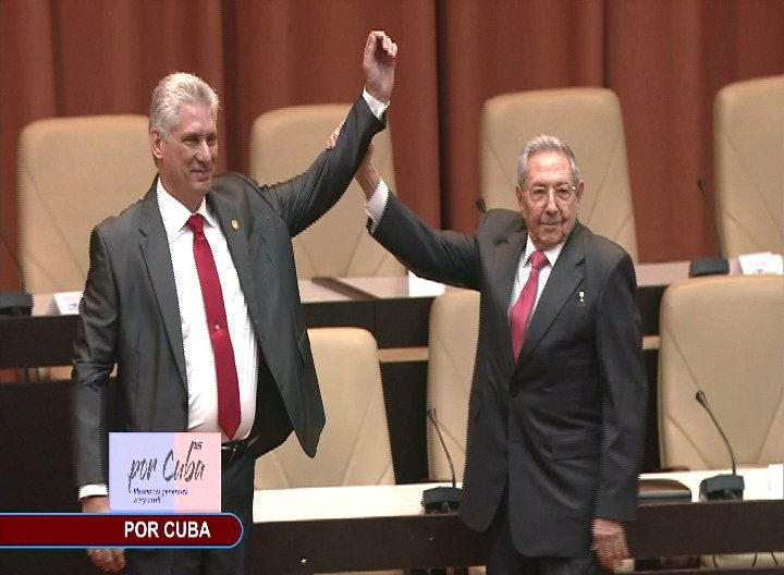 Miguel Diaz-Canel Bermudez was elected President of the Council of State of the Republic of Cuba