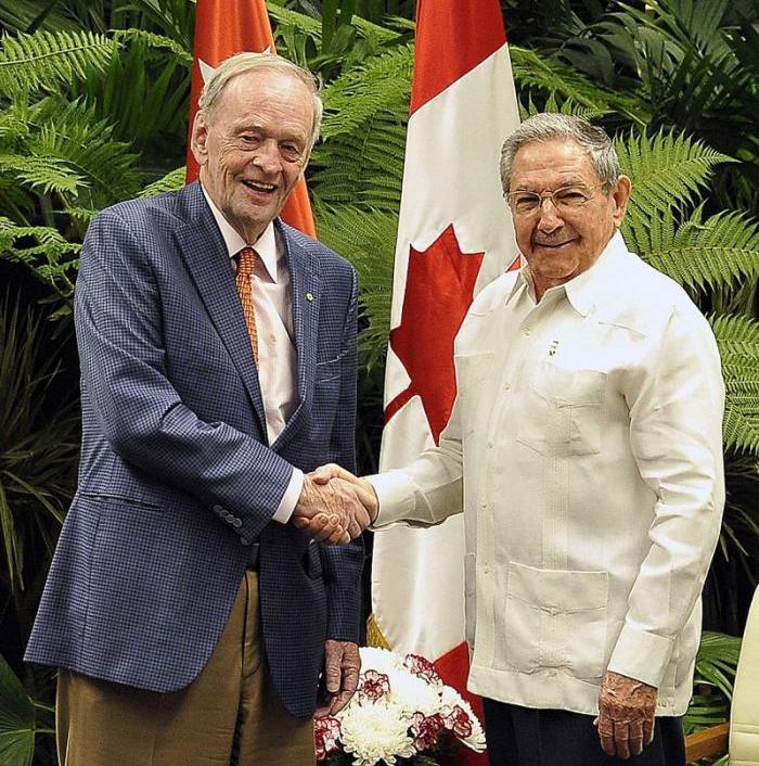 Recibió Raúl Castro a ex Primer Ministro de Canadá