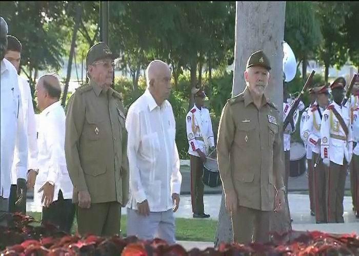 Cuban President pays tribute to Fidel