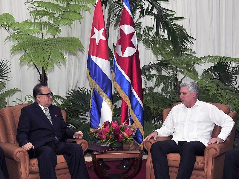 Recibe Díaz-Canel al Vicepresidente del Partido de Corea