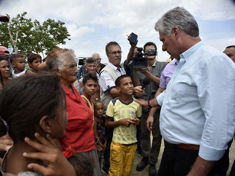 Miguel Diaz-Canel Visits the Province of Holguin